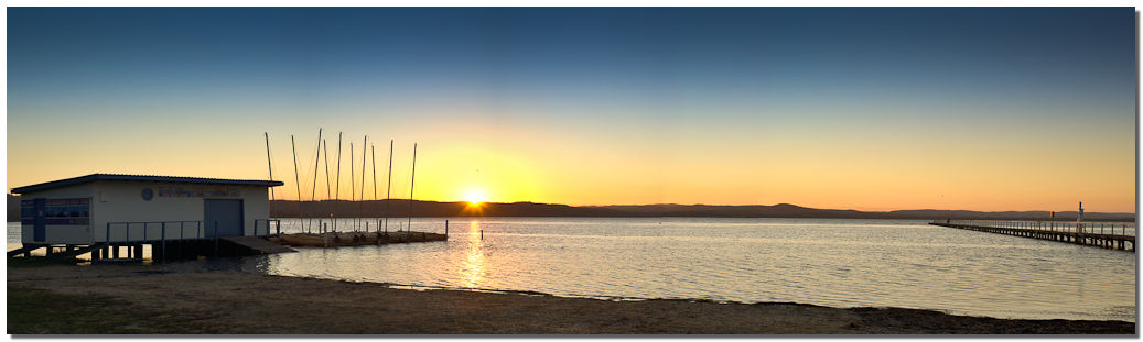 Sunset on Tuggerah Lake